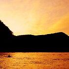 Lombok Sunset on the water by kaledyson