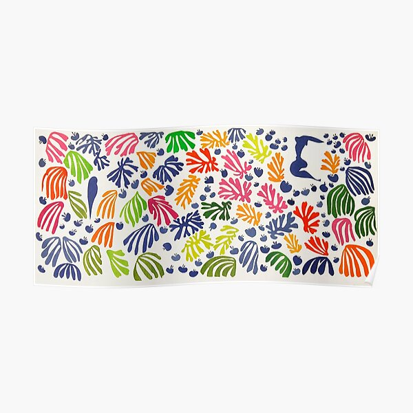 Matisse Floral Pattern Poster