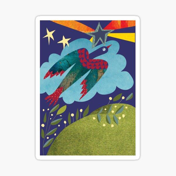 A bird in flight Sticker