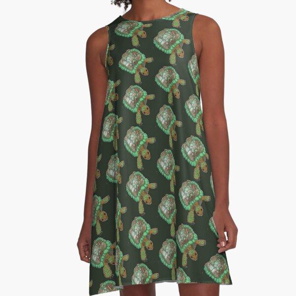 Tortoise A-Line Dress