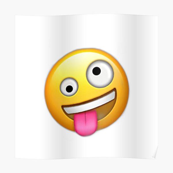 Lengua fuera emoji salvaje Póster