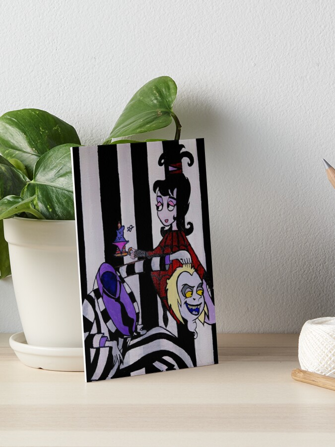 Beetlejuice And Lydia Deets Cartoon Drawing Art Board Print By Michellebites29 Redbubble