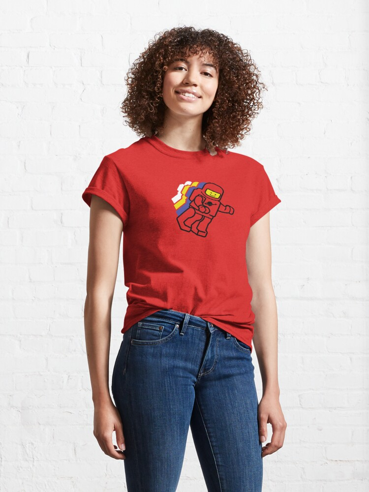 Alternate view of Spaceman - Red Classic T-Shirt