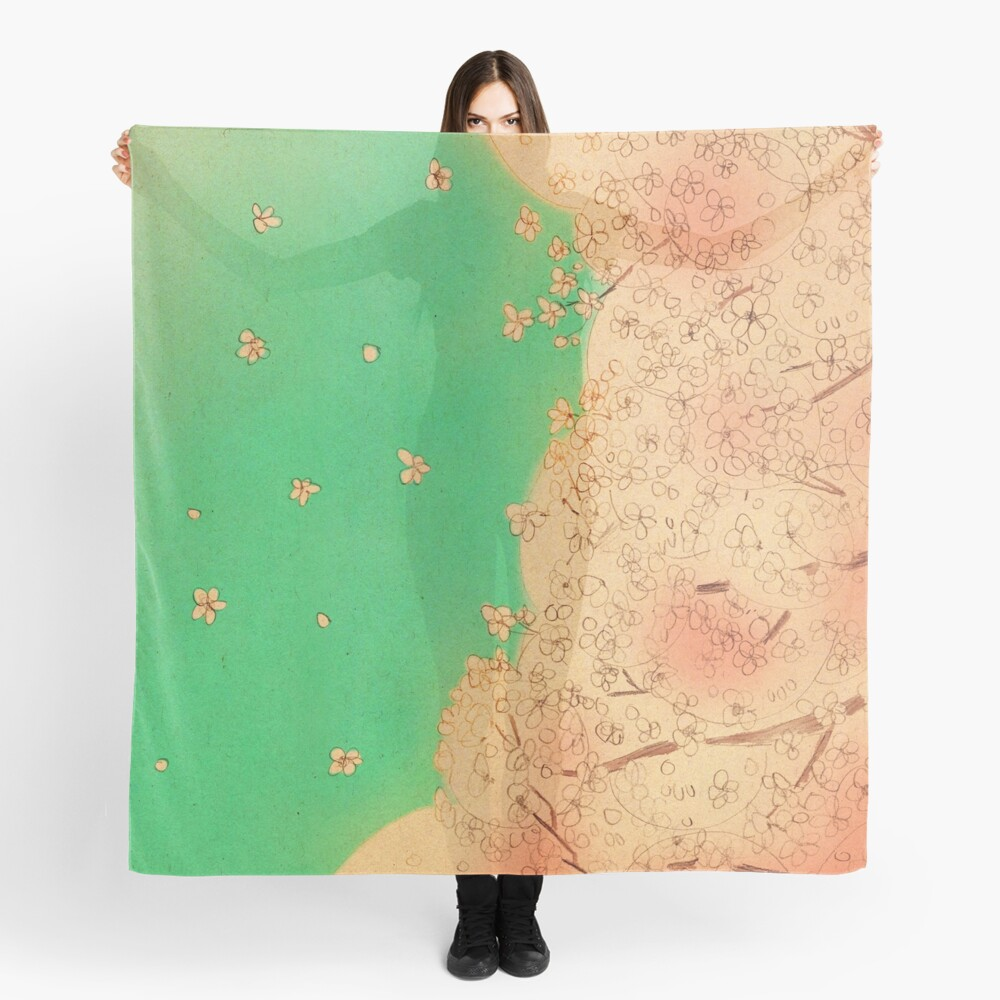 Cherry blossoms - Nice weather today Scarf