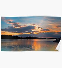 Smith's Lake, Forster Sunset Poster