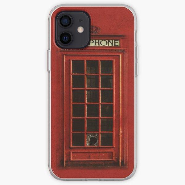 Vintage British Red Telephone Box Retro  iPhone Soft Case