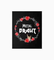 Metal Braut für den Junggesellinnenabschied Heavy Metal Girl Galeriedruck