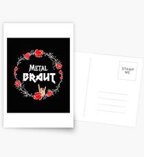 Metal Bride for the Hen Party Heavy Metal Girl - Faith and Truth Postcards
