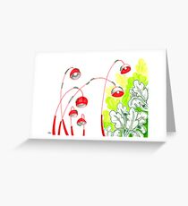 Sketch 13 ... battle of the caterpillars Greeting Card