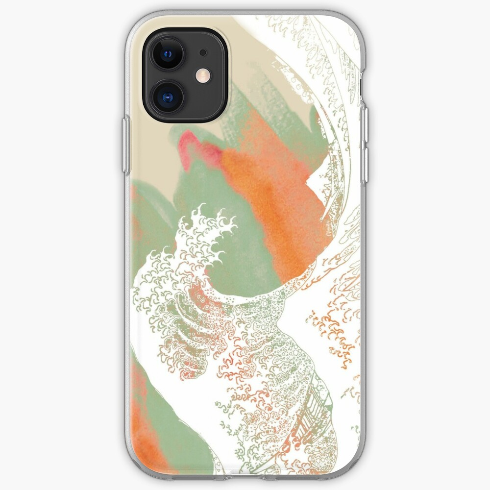 Calm into Great Wave Paint  I iPhone Soft Case