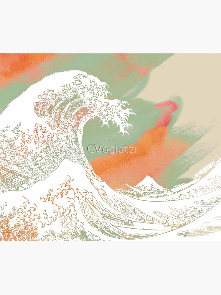 Calm into Great Wave Paint  I by CVogiatzi