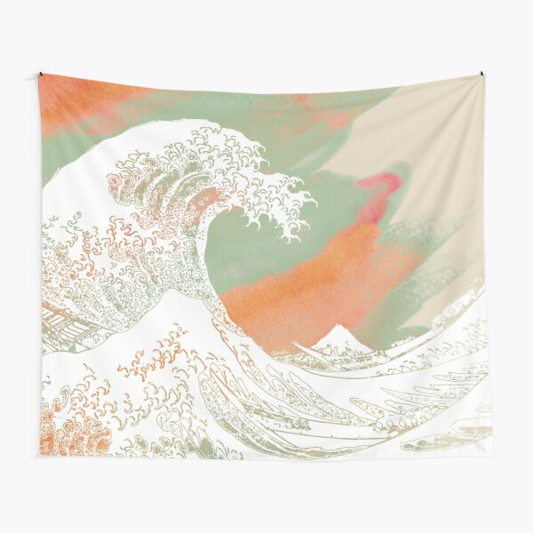 Calm into Great Wave Paint  I Tapestry