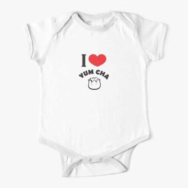 I Heart Yum Cha!!! Short Sleeve Baby One-Piece