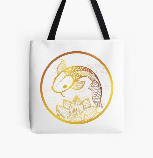 Golden Koi All Over Print Tote Bag