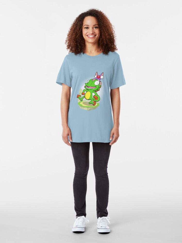 Alternate view of Lizard and Bat! Slim Fit T-Shirt