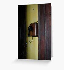 Old-fashioned telephone, Havana Greeting Card