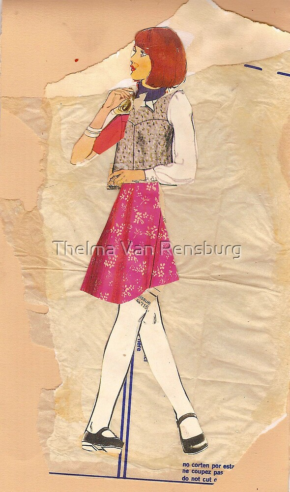 Lady with pink skirt, 2010 by Thelma Van Rensburg