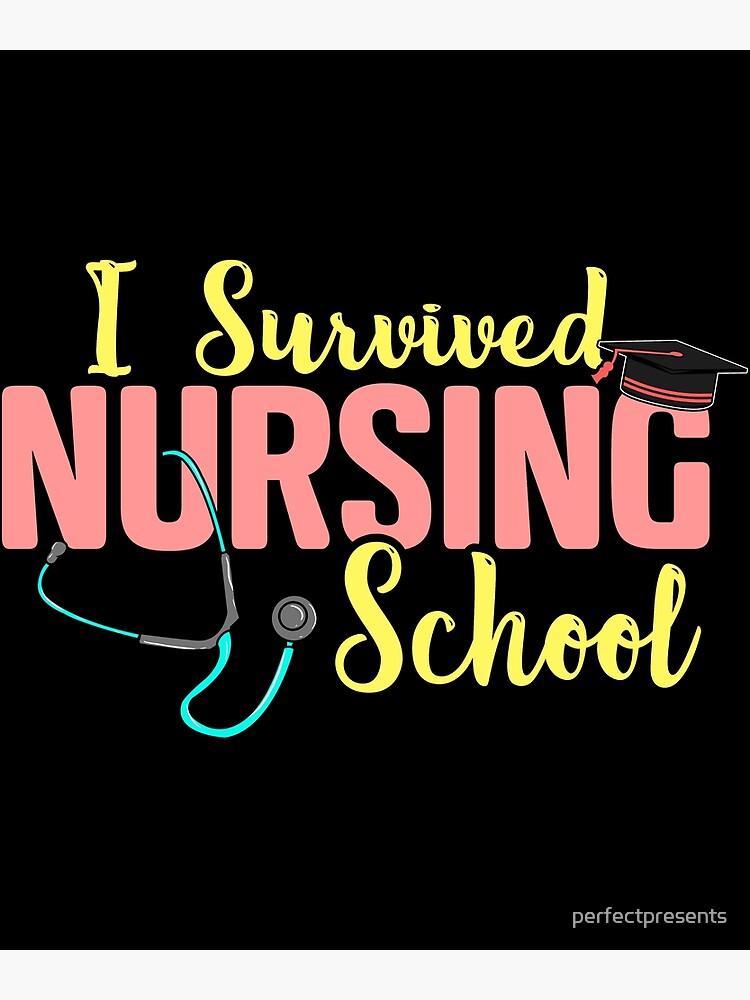 Cute I Survived Nursing School Rn Nurse Graduation Greeting Card By Perfectpresents Redbubble