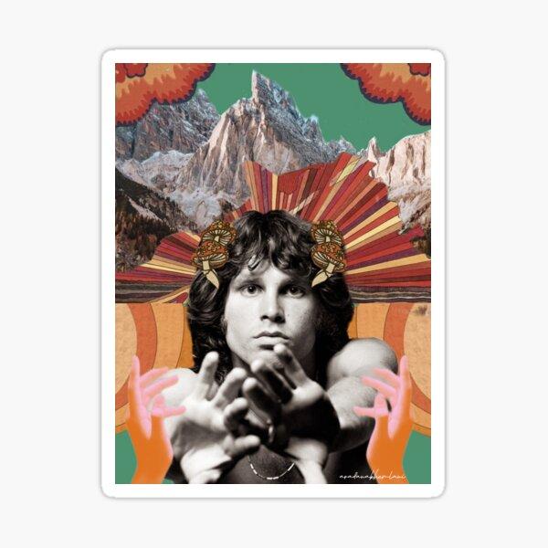 Jim Morrison Collage Sticker Sticker