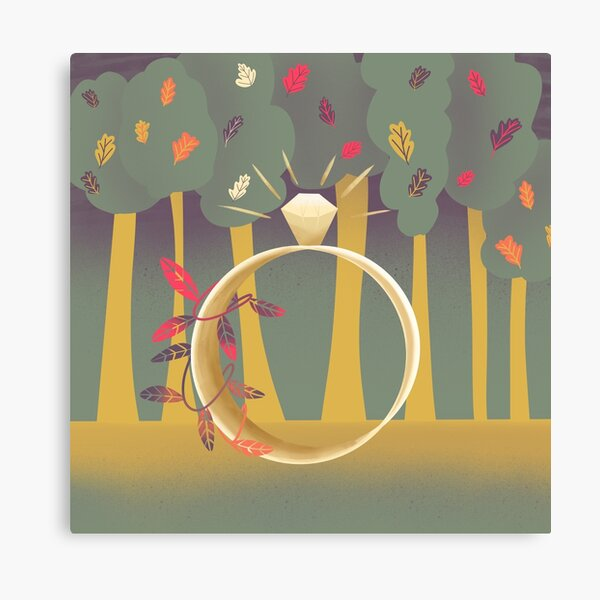 Illustration Forest Ring Leaves Canvas Print
