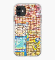 Finn and Jake's line art iPhone Case