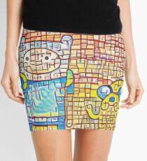 Finn and Jake's line art Mini Skirt