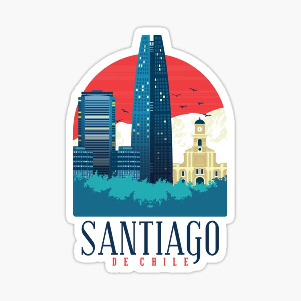Santiago de chile Pegatina