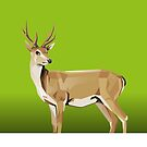 Deer with green Background by Jatmika Jati