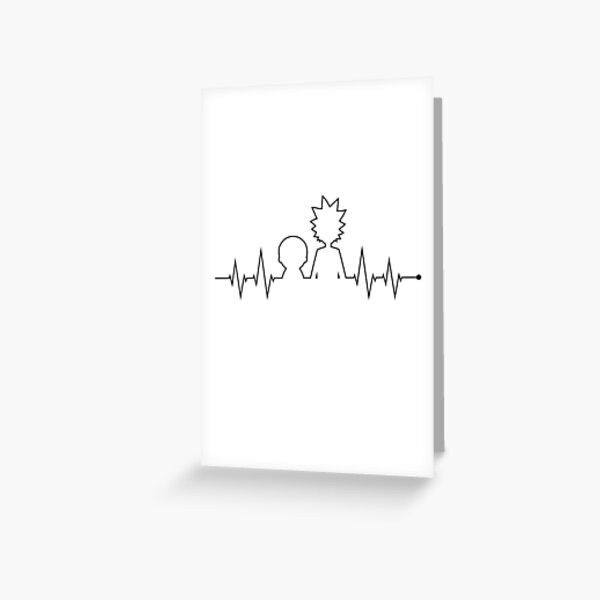 Rick and Morty Heartbeat Greeting Card