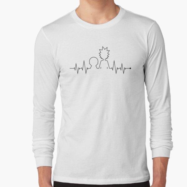 diseño ordenado pero realmente genial para los ávidos fanáticos de Rick y Morty Camiseta de manga larga