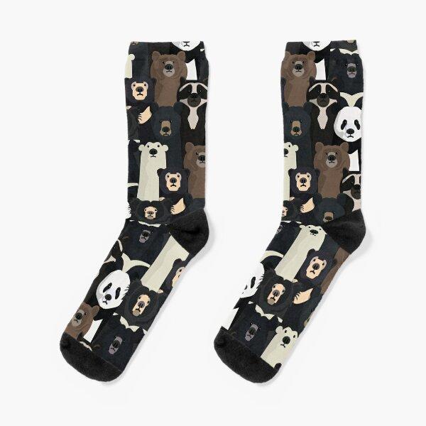 Bears of the world pattern Socks
