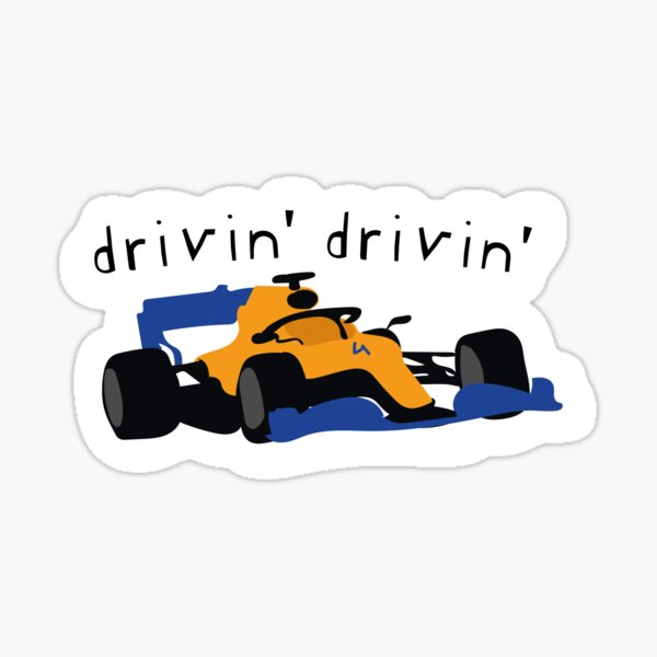Lando Norris - Drivin 'Drivin' - F1 Sticker