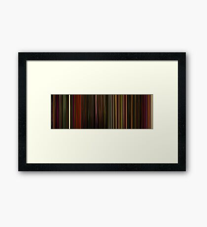 Moviebarcode: Enter the Void (2009) Framed Print