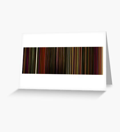 Moviebarcode: Enter the Void (2009) Greeting Card
