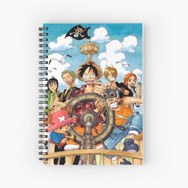Mugiwara Strawhats One Piece Crew Manga Spiral Notebook