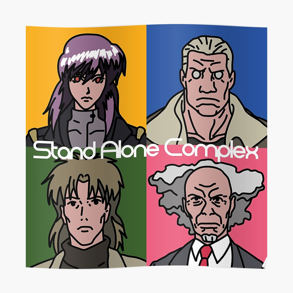 Ghost In The Shell Stand Alone Complex Version Sticker By Cleobule Redbubble