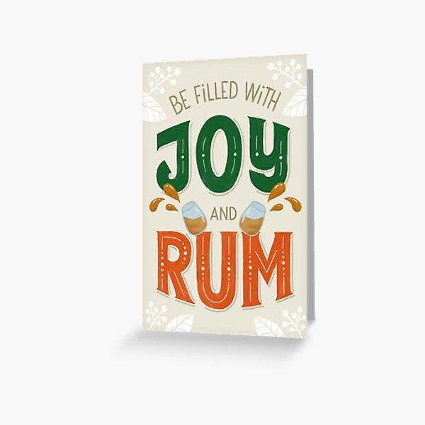 Weihnachtskarte Joy&Rum Grußkarte