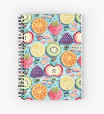 Fruity Hot Air Balloons  Spiral Notebook