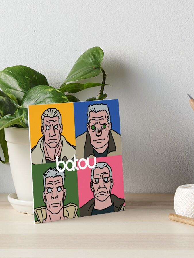 Ghost In The Shell Batou Version Art Board Print By Cleobule Redbubble