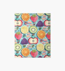 Fruity Hot Air Balloons  Art Board Print