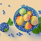 Blueberries And Pears by hurmerinta