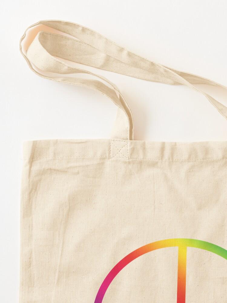 Alternate view of Rainbow Peace Symbol Tote Bag