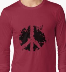 Peace sign in black T-Shirt