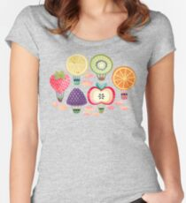 Fruity Hot Air Balloons  Fitted Scoop T-Shirt