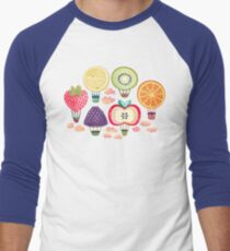 Fruity Hot Air Balloons  Baseball ¾ Sleeve T-Shirt