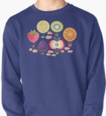Fruity Hot Air Balloons  Pullover Sweatshirt