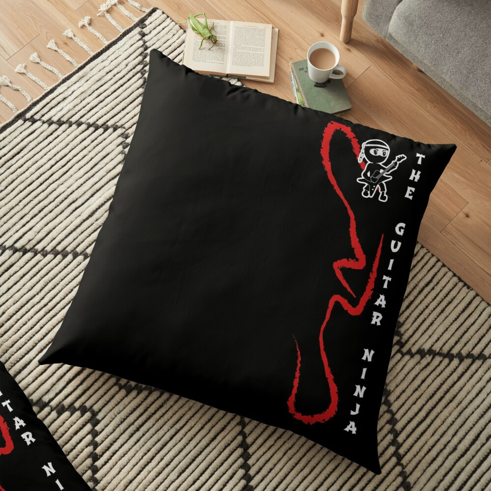 The Guitar Ninja giant floor pillow cover