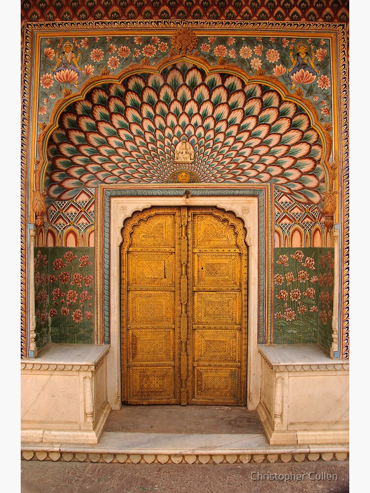 Lotus flower doorway, City Palace, Pink City, Jaipur by ccullen222