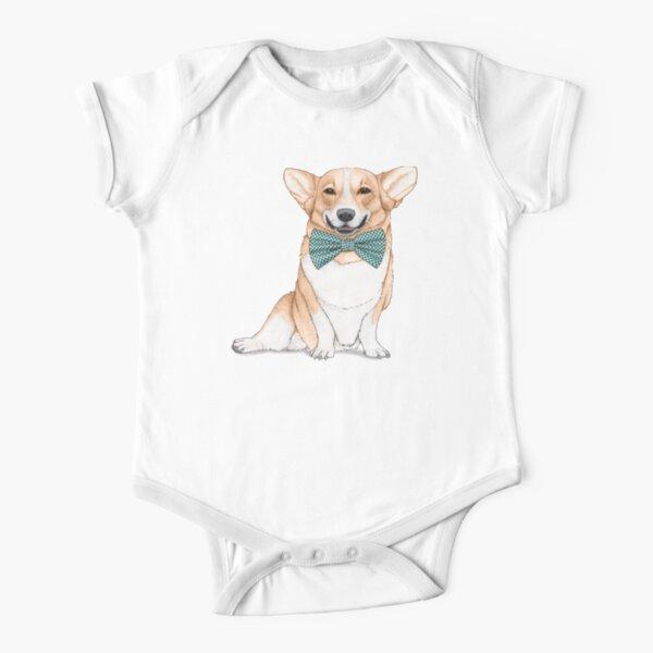 Corgi Dog Short Sleeve Baby One-Piece