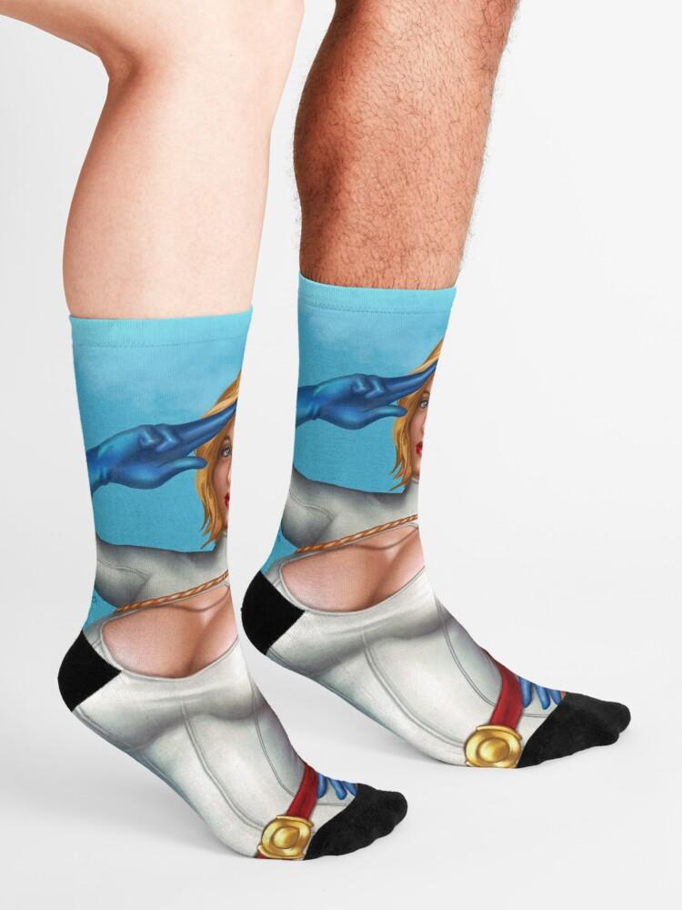 Alternate view of Superhero Salute Socks